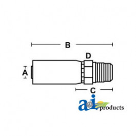 (HC-M-BSPT) Male BSP Taper Pipe - Rigid - Straight
