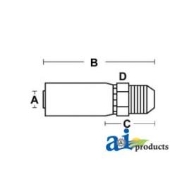 (HC-MJ) Male JIC 37 degrees - Rigid - Straight