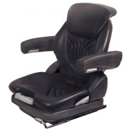 Grammer Seat Assembly, Black; Vinyl