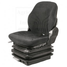 Seat, Mechanical Suspension; , L/ Armrests, BLK/GRAY MATRIX CLOTH
