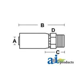 (HW-MT) SAE Flareless Compression w/ Sleeve & Nut - Rigid - Straight