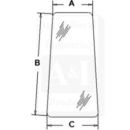 Glass, Door, Rear (RH)