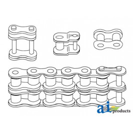 50 Double Roller Chain, 10ft (Import)