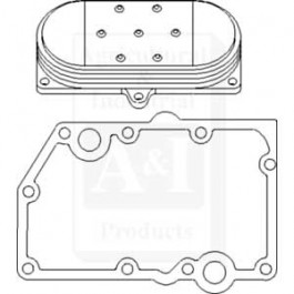 Cooler, Engine Oil, w/ Gaskets, 5 Plate