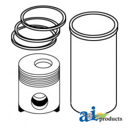 Piston with Rings (Std); Set Of 4