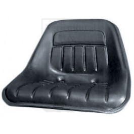"Tie-On Seat Cover, 10"" High Back, BLK VINYL"