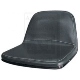 "Tie-On Seat Cover, 20"" High Back, BLK VINYL"