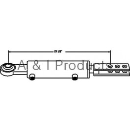 "Hydraulic Side Link Cylinder, Cat 0 Base End w/ Clevis Rod End (2"" Bore)"