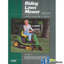 Riding Lawn Mower Service Manual, Volume 2