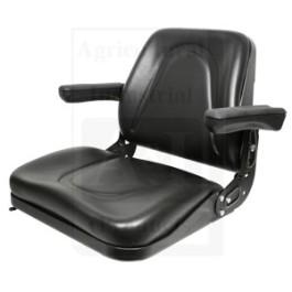 Seat, Universal w/ Slide Track & Flip-Up Armrests, BLK Vinyl