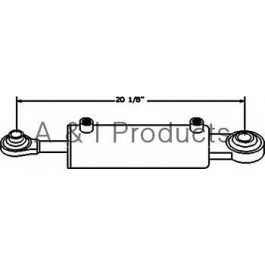 "Hydraulic Top Link Cylinder (Cat I Rod/Cat II Base) (3"" Bore)"