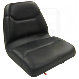 Seat, Michigan Style, w/ Slide Track, Deluxe Cushion, BLK