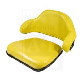 Cushion Set 2 Pc., w/ Low Back, Steel, YLW