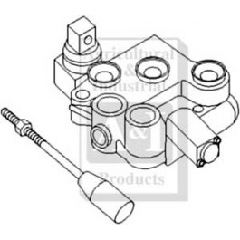 "Monoblock Control Valve 3/8"" BSP, single spool"