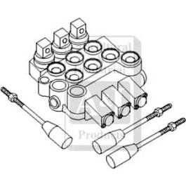 "Hydraulic Control Valve 3/8"" BSP, 3 spool"