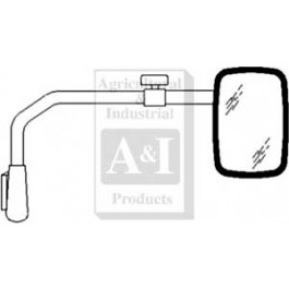 Mirror Assembly, Universal Extendable, Glass (RH)