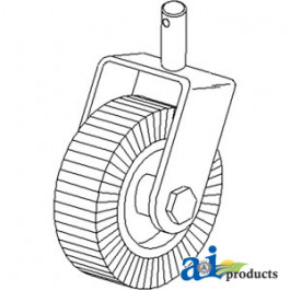 "Wheel, 4"" X 8"" Tail Rim Assembly"