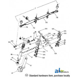 LH splined spindle, used on WF2918 axle