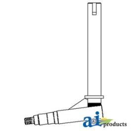 LH/RH Keyed Spindle, used on WF2917 axle