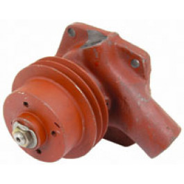 Water Pump - 4 cyl, with 2 groove Pulley - less Gasket