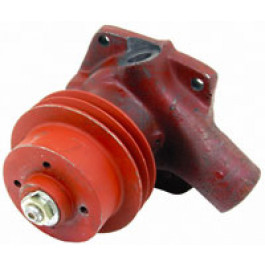 Water Pump - 6 cyl, with 2 groove Pulley - less Gasket