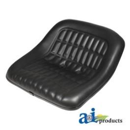 """Seat, 19"""" Pan, Steel, 7"""" Spacing, BLK VINYL - CS668-1V"""