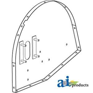 251458a1 Plate Grain Elevator Head Inclined Ext Wear Rh Side 1