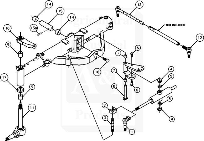 50291003 - Overhaul Kit, Basic Front Axle for International Harvester on
