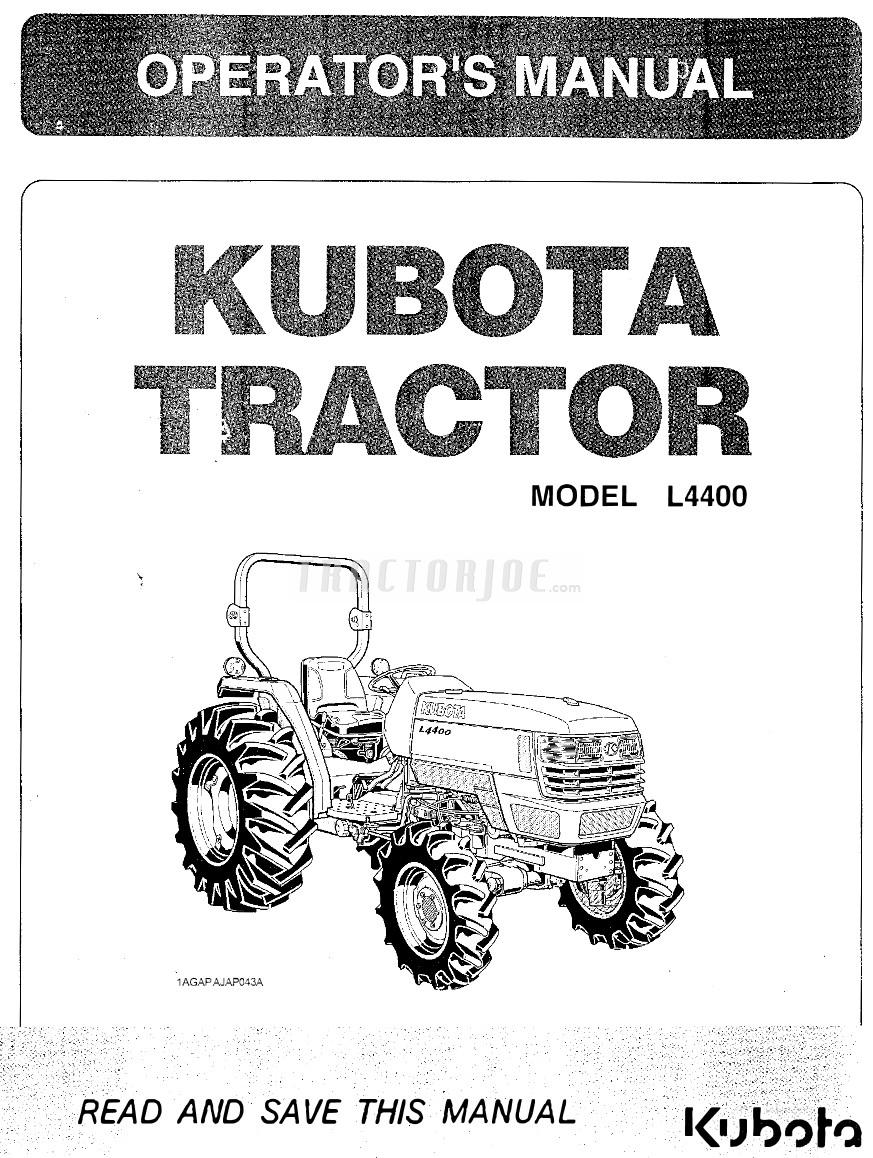 kubota l4400 tractor operator manual tractorjoe com rh tractorjoe com kubota tractors manual transmission reviews kubota tractors manual 3010