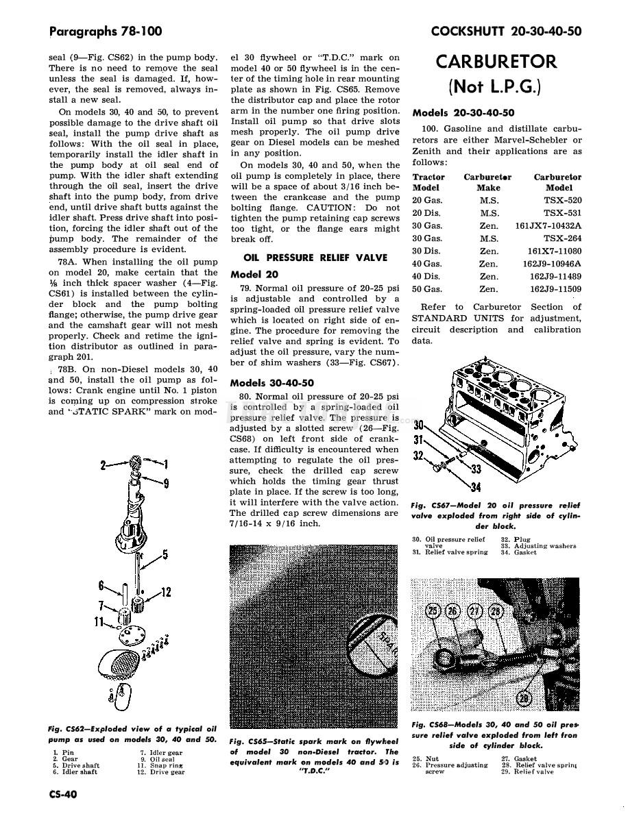 Marvel Schebler Tsx Carburetor Adjustment Cockshutt Wiring Diagram Series Shop Manual 935x1210