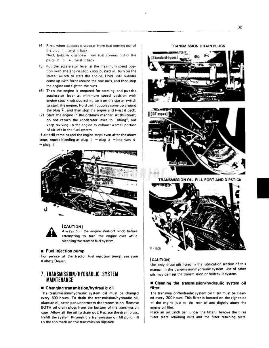 Kubota M4500, M4500DT, M5500, M5500DT, M7500, M7500DT