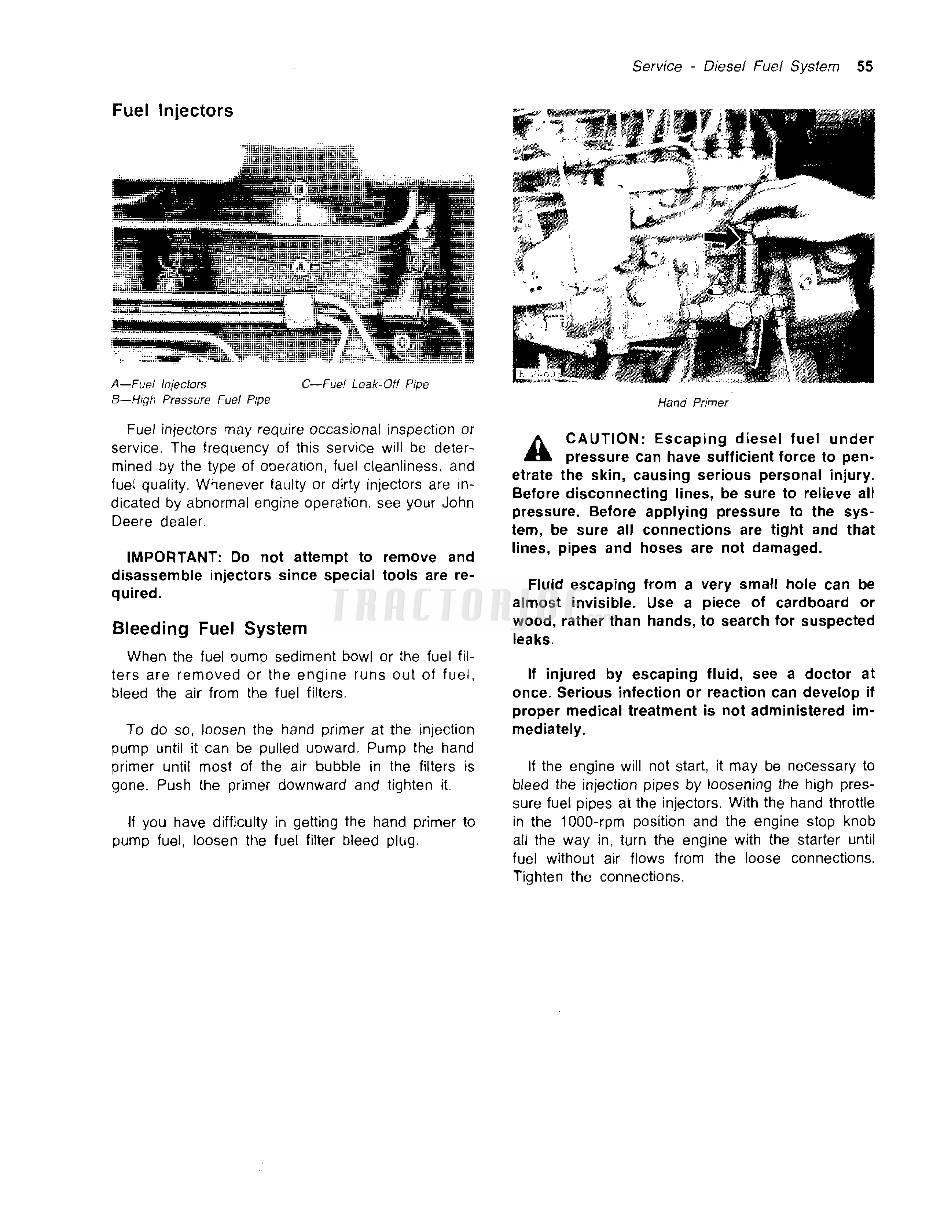 OPERATORS MANUAL JOHN DEERE 8430 AND 8630 TRACTORS