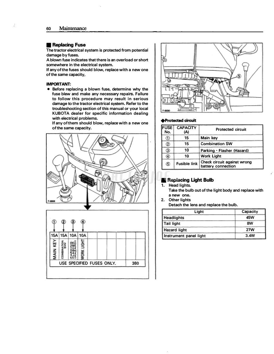 Brilliant Kubota M4700 M5400 Tractor Operator Manual Tractorjoe Com Wiring Digital Resources Otenewoestevosnl