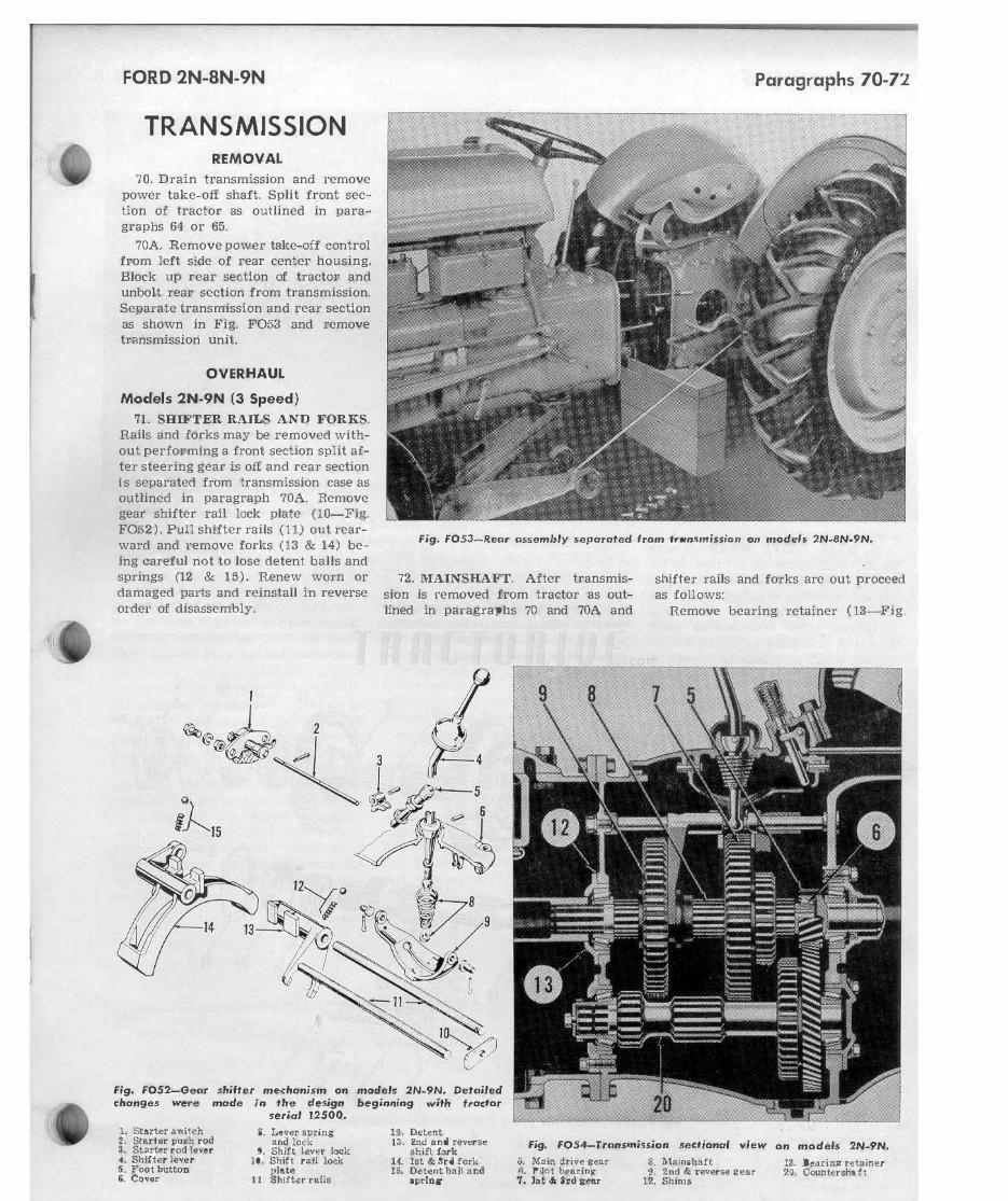Ford Tractor Series 2N, 8N, 9N Shop Manual | TractorJoe com