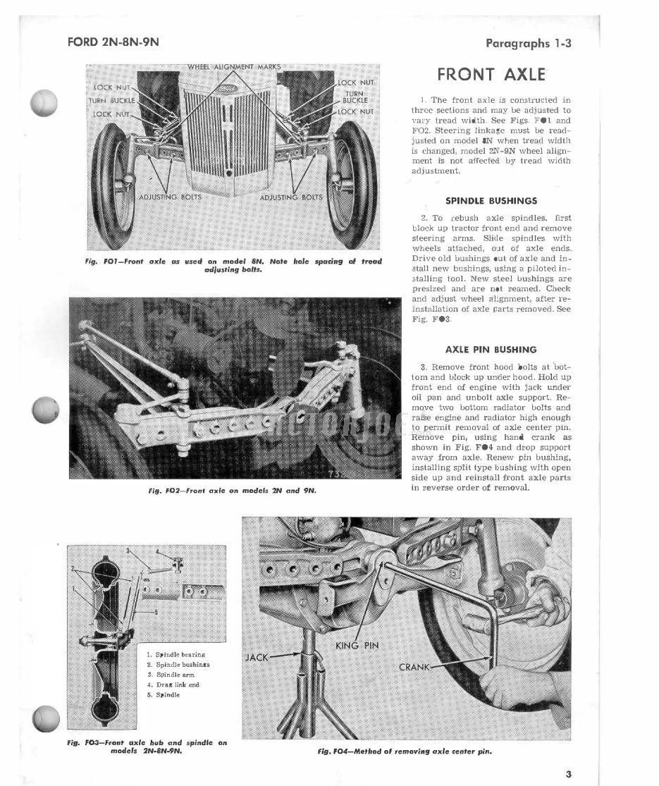 Heavy Equipment Manuals & Books FORD TRACTOR SHOP MANUAL I ...