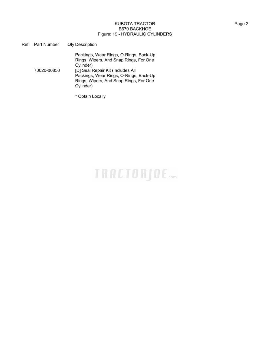Kubota B670 Backhoe Operator Manual | TractorJoe com