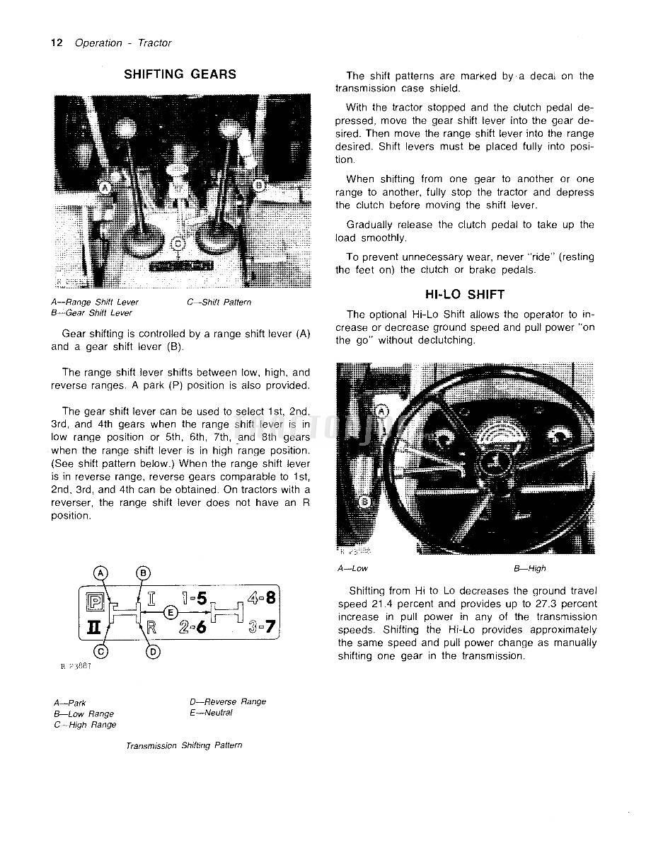 5 and 4 transmission shift pattern