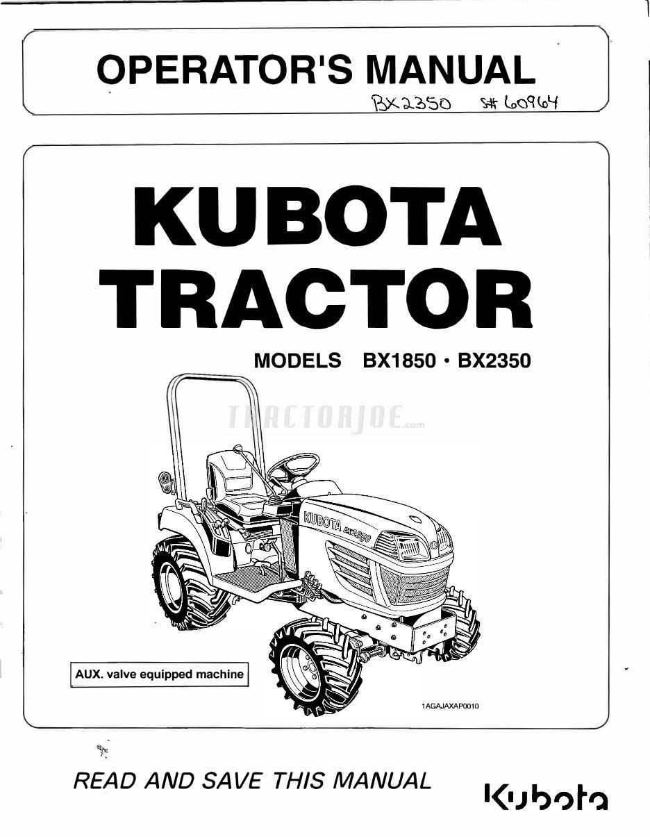 kubota bx2350 manual enthusiast wiring diagrams u2022 rh rasalibre co Kubota L3350 Parts Manual Kubota L2350 Parts Schematic