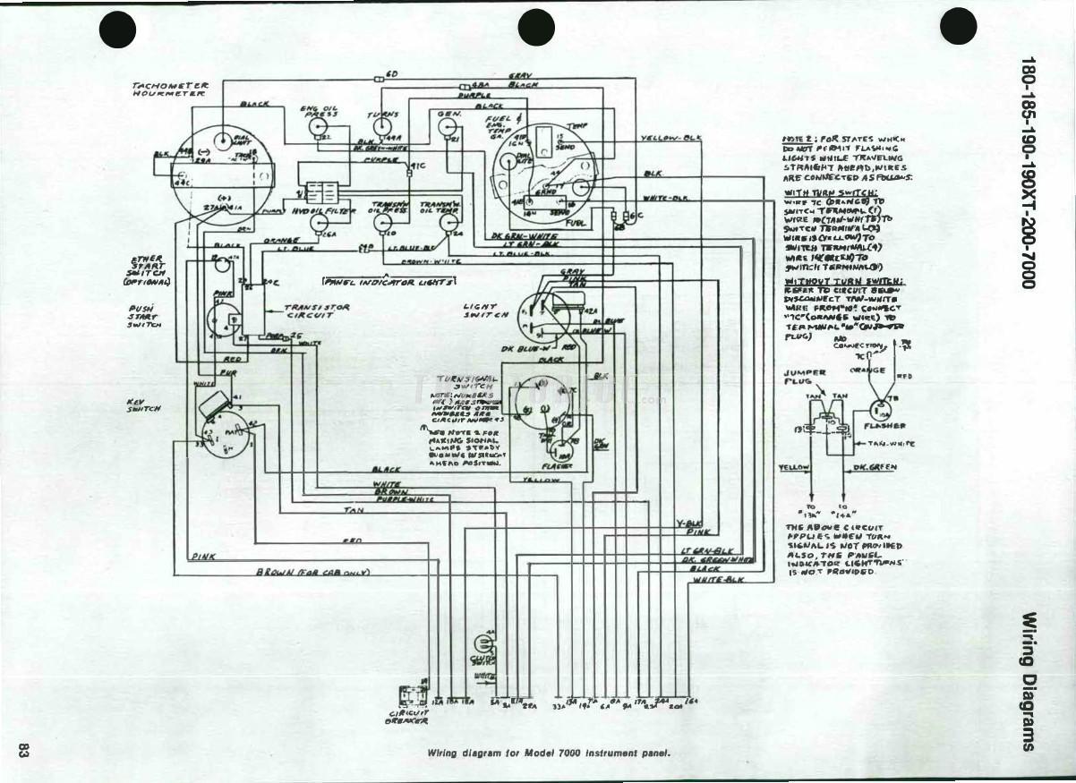 Allis Chalmers 7000 Wiring Diagram Schematics For Ca Models 180 185 190 190xt 200 Shop Manual